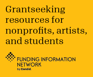 Grantseeking resources for nonprofits, artists, and students